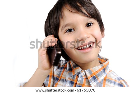 Kid with phone