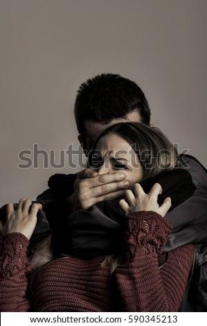 Woman Rubbing Her Leg Pain Wearing Stock Photo 81907756