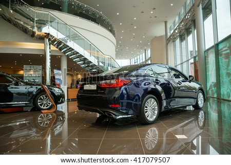 KIEV, UKRAINE - 21 APRIL : Presentation new Lexus ES 250 Executive Edition. Car showed in Kiev West Lexus Showroom on 21 April 2016