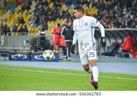 Kiev, UKRAINE - OCT 19, 2016: Derliz Gonzales during the UEFA Champions League match between Dynamo Kiev vs SL Benfica (Portugal), NSC Olympic stadium, 19  October 2016, Ukraine