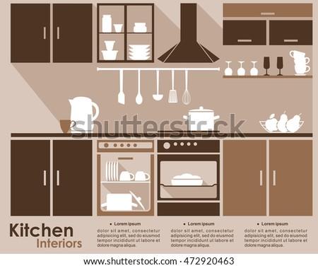Kitchen card design vector illustration stock vector for Kitchen design vector