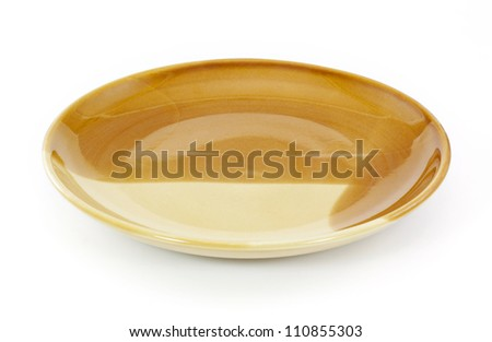 Kitchen plate on the white background