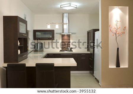 kitchen room modern design