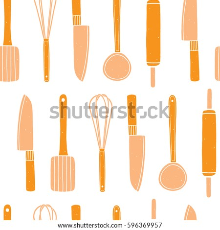 Kitchen Utensils Background vector set kitchen utensils cooking tools stock vector 577223236