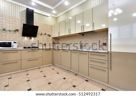 kitchen with appliances and a beautiful interior