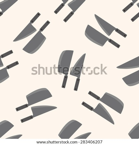 kitchenware knife , cartoon seamless pattern background