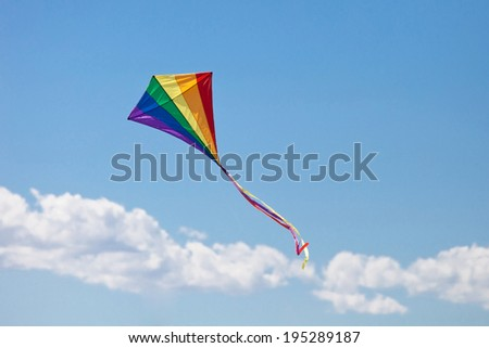kite's colors in the blue sky