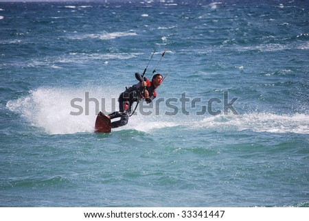kitesurfing in Tarifa, Spain