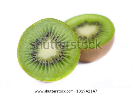 Kiwi fruit. Isolated on white background.High resolution photography