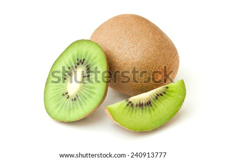 Kiwis on isolated on white  background