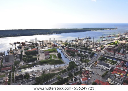 KLAIPEDA,LITHUANIA-AUG 02:view on the city and port on August 02,2011 in Klaipeda,Lithuania.