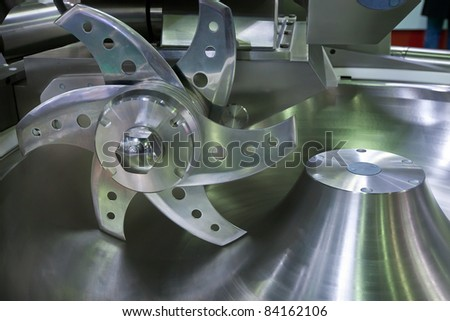 Knife of professional mincing machine in food industry