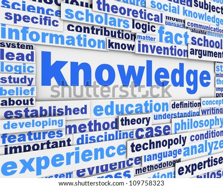 Knowledge poster design. Education message conceptual background