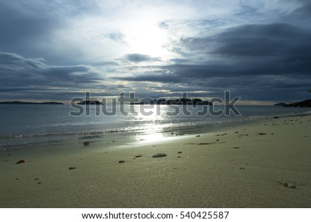 Koh Chang, Trat Province of Thailand. Evening Beach View
