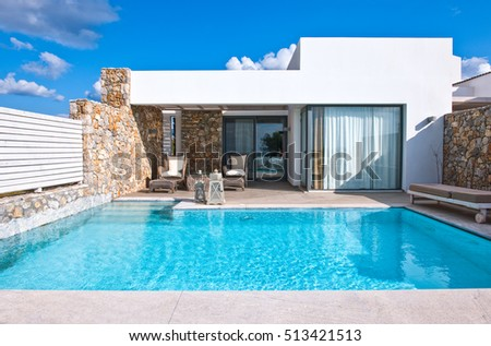 Kos, Greece - May 18, 2010:  A luxury hotel in the Lampi village