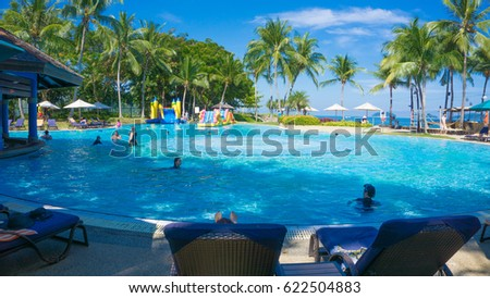 Swimming Pools Bar Beach Luxury Hotel Stock Photo 65385727 Shutterstock