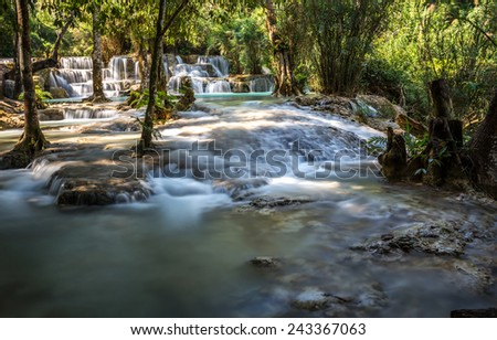 Kouangxi water fall in luangprabang Laos