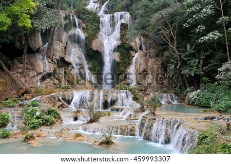 Kuang Si Waterfall / Tat Kuang Si Waterfalls near Luang Prabang, Laos