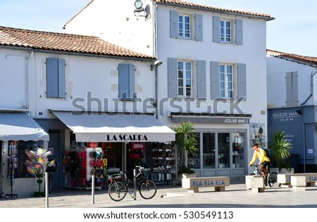 La Couarde sur Mer, France - september 26 2016 : the picturesque village in autumn