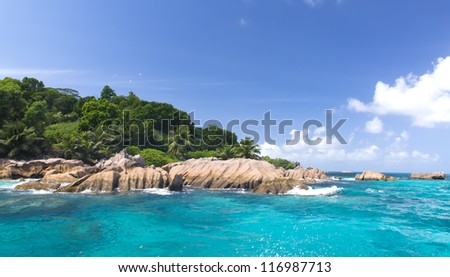 La Digue island, Seyshelles. The island of dreams for a rest and relaxation.