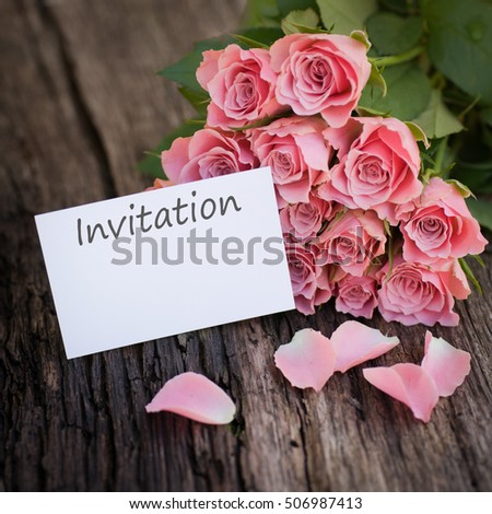 Label with text: Invitation