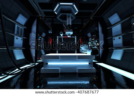 laboratory 3d illustration