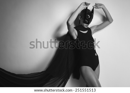 Lady in black mask