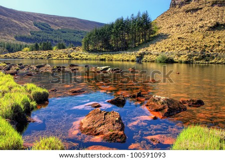 Lake in the mountains of the Dingle Peninsula in Ireland.