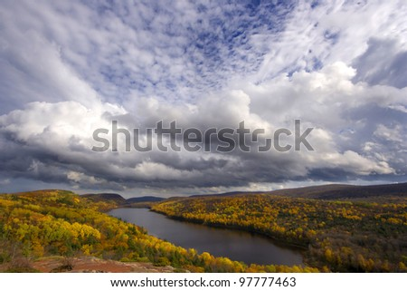 Lake of the Clouds in the Porcupine Mountains, in the Upper Peninsula of Michigan.