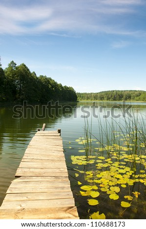 Lake Perty. Suwalki Landscape Park. Poland