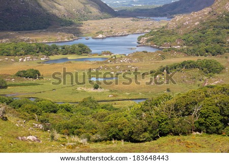 Lakes in Killarney national park in Kerry in Ireland Europe