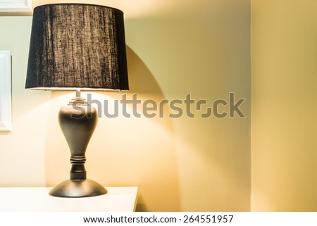 Lamp in bedroom