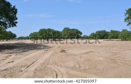 Land being prepared for construction of a golf course.