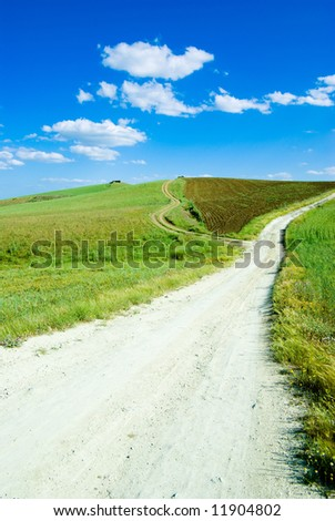 landscape for rural white path