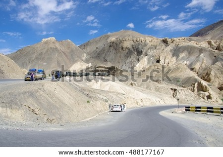 Landscape in Lamayuru in Ladakh, India