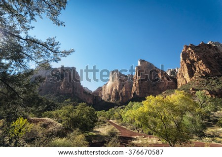 Landscape in Zion National Park, United States