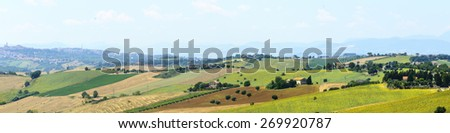 Landscape near Macerata (Marches, Italy) at summer
