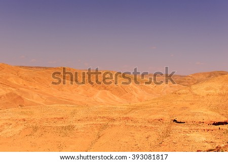 Landscape od the dunes in a desert