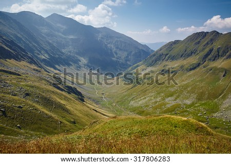 Landscape of a beautiful mountain in a summer day