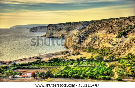 Landscape of Cyprus near Kourion. Autumn scene