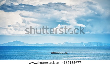landscape with sea and clouds, Asia, Thailand