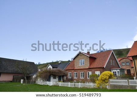 landskrona sweden house cloud sky
