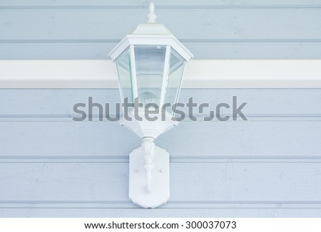 Lantern on the outdoor wall