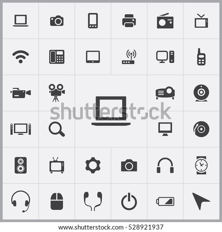 laptop icon. device icons universal set for web and mobile