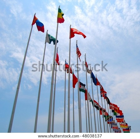Large group of flags