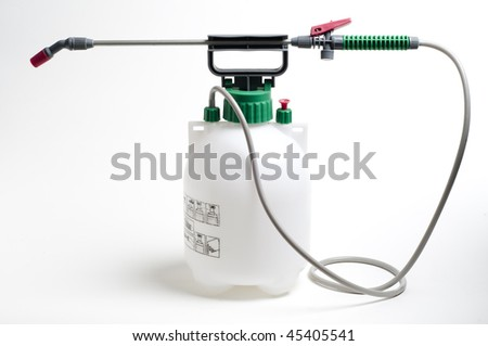Large spray container and nozzle used for spraying chemicals