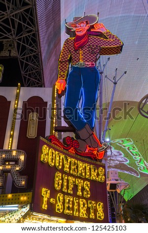 LAS VEGAS - DEC 07 : The Fremont Street Experience an attraction in downtown Las Vegas on December 07, 2012. Las Vegas in 2012 broke the all-time visitor volume record of 39-plus million visitors
