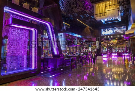 LAS VEGAS - DEC 17 : The Interior of Cosmopolitan hotel and casino on December 17 2014 in Las Vegas. The Cosmopolitan opened in 2010 and it has 2,995 rooms and 75,000 sq ft casino.