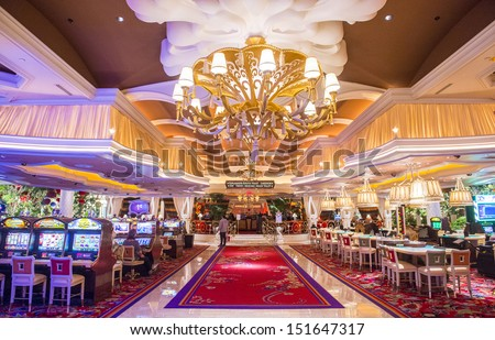 LAS VEGAS  FEB 26 : The The Interior Of Wynn Hotel And Casino On February