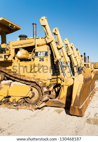 LAS VEGAS - MARCH 1: New heavy duty Caterpillar 966K front loader at a ...